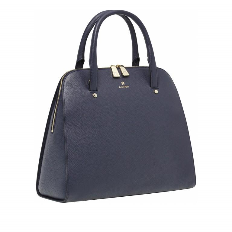 AIGNER Ivy Handtasche 133424 Marine, Farbe: blau/petrol, Marke: Aigner, Abmessungen in cm: 34.0x28.0x10.0, Bild 2 von 3