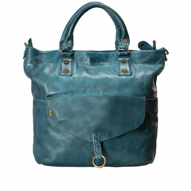 Desiderius Mons Adriana Shopper Leder Blue, Farbe: blau/petrol, Marke: Desiderius, Abmessungen in cm: 42.0x33.5x9.5, Bild 1 von 3