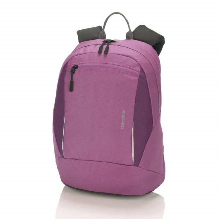 Travelite Basic Daypack S Fuchsia, Farbe: rosa/pink, Manufacturer: Travelite, Dimensions (cm): 27.0x37.0x17.0, Image 1 of 3