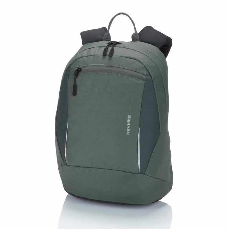 Travelite Basic Daypack S Tannengrün, Farbe: grün/oliv, Marke: Travelite, Abmessungen in cm: 27.0x37.0x17.0, Bild 1 von 3