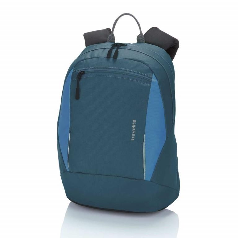 Travelite Basic Daypack S Blau, Farbe: blau/petrol, Marke: Travelite, Abmessungen in cm: 27.0x37.0x17.0, Bild 1 von 3