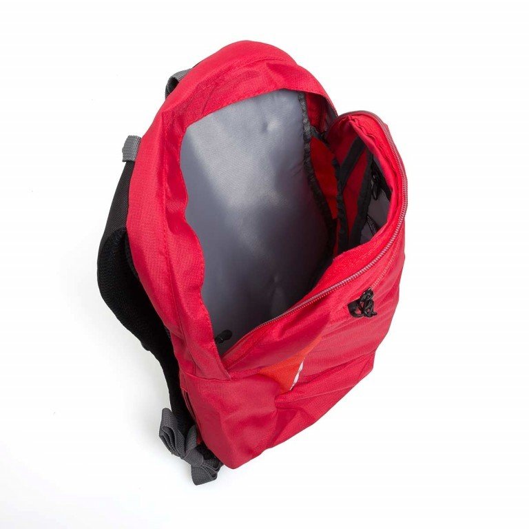 Travelite Basic Daypack S Rot, Farbe: rot/weinrot, Manufacturer: Travelite, Dimensions (cm): 27.0x37.0x17.0, Image 2 of 3