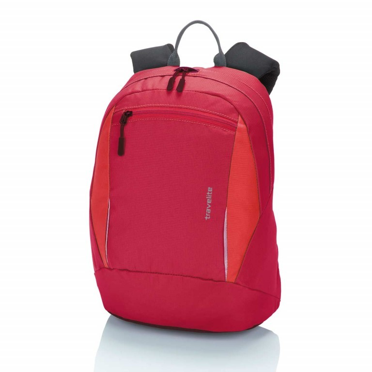 Travelite Basic Daypack S Rot, Farbe: rot/weinrot, Manufacturer: Travelite, Dimensions (cm): 27.0x37.0x17.0, Image 1 of 3