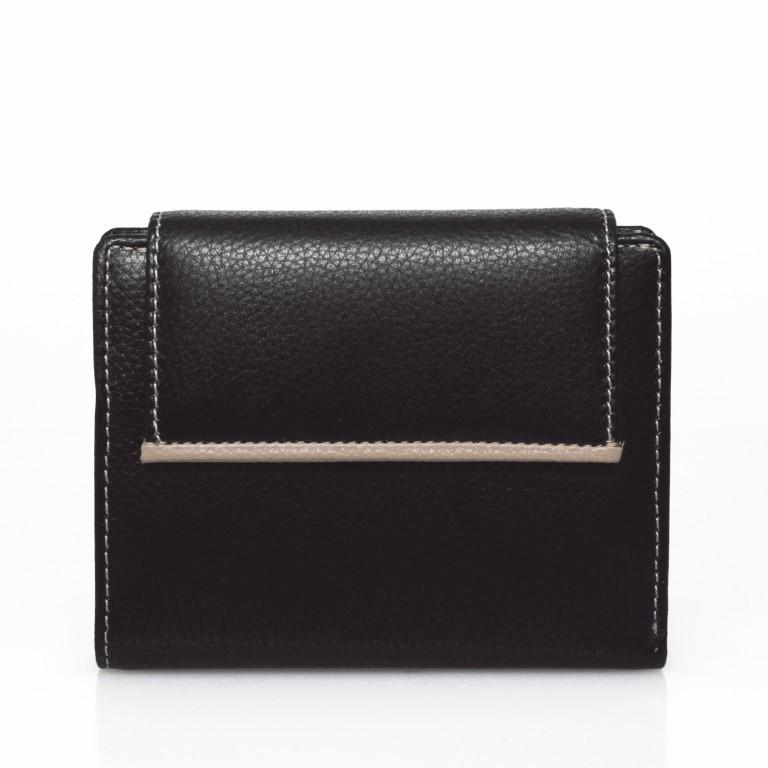 HJP Geldbörse Tinta Schwarz, Farbe: schwarz, Marke: Hausfelder, Abmessungen in cm: 13.0x10.5x2.0, Bild 1 von 6