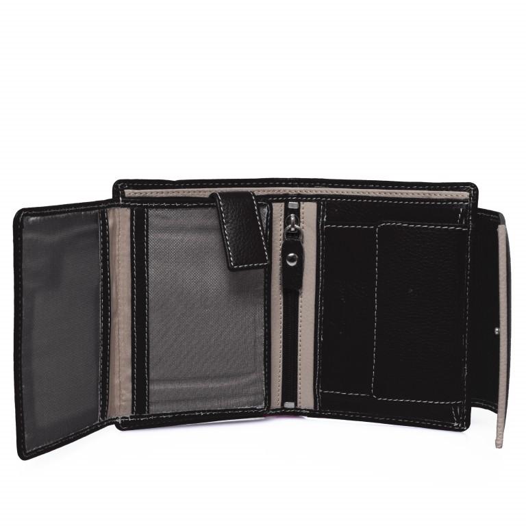 HJP Geldbörse Tinta Schwarz, Farbe: schwarz, Marke: Hausfelder, Abmessungen in cm: 13.0x10.5x2.0, Bild 4 von 6
