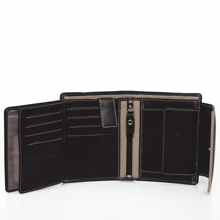 HJP Geldbörse Tinta Schwarz, Farbe: schwarz, Marke: Hausfelder, Abmessungen in cm: 13.0x10.5x2.0, Bild 5 von 6