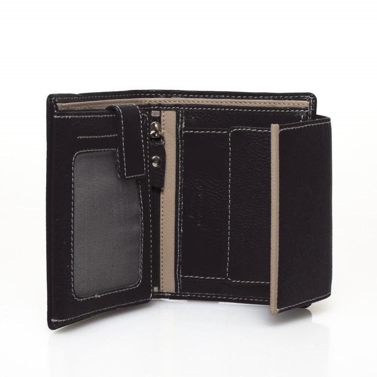 HJP Geldbörse Tinta Schwarz, Farbe: schwarz, Marke: Hausfelder, Abmessungen in cm: 13.0x10.5x2.0, Bild 3 von 6