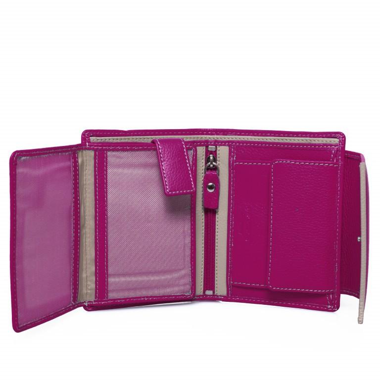 HJP Geldbörse Tinta Fuchsia, Farbe: rosa/pink, Marke: Hausfelder, Abmessungen in cm: 13.0x10.5x2.0, Bild 4 von 6