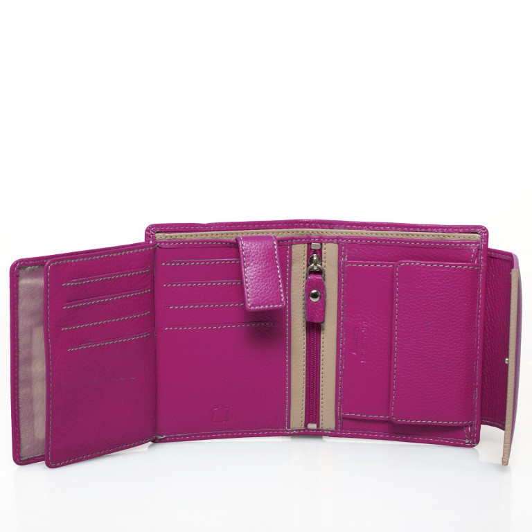 HJP Geldbörse Tinta Fuchsia, Farbe: rosa/pink, Marke: Hausfelder, Abmessungen in cm: 13.0x10.5x2.0, Bild 5 von 6