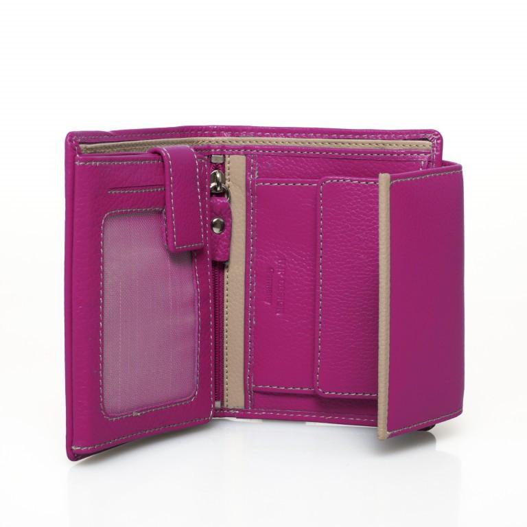 HJP Geldbörse Tinta Fuchsia, Farbe: rosa/pink, Marke: Hausfelder, Abmessungen in cm: 13.0x10.5x2.0, Bild 3 von 6
