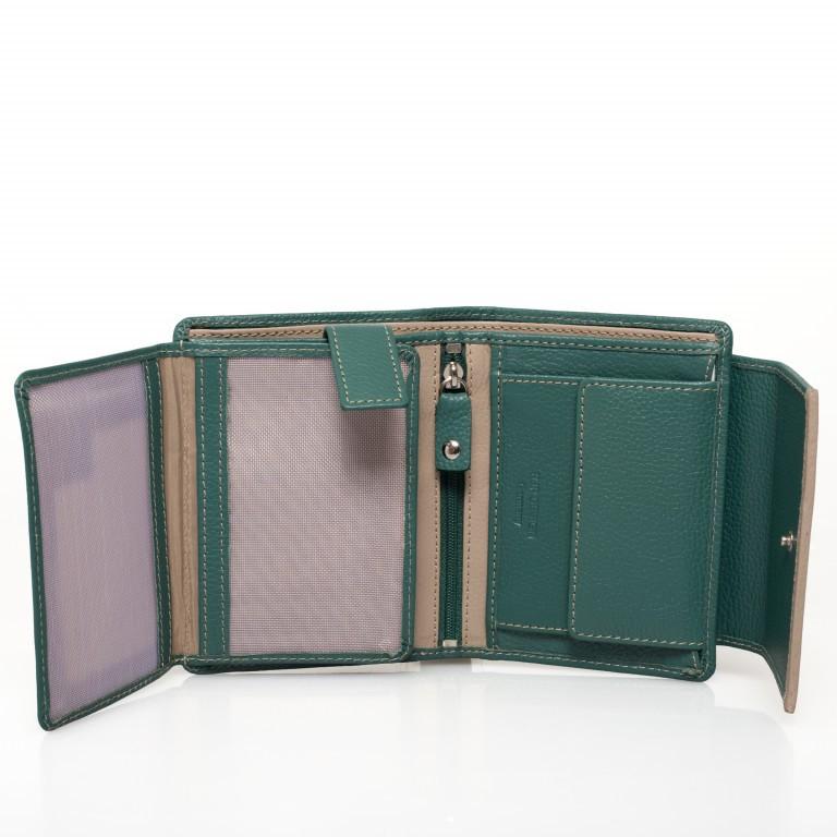 HJP Geldbörse Tinta Grün, Farbe: grün/oliv, Marke: Hausfelder, Abmessungen in cm: 13.0x10.5x2.0, Bild 4 von 6