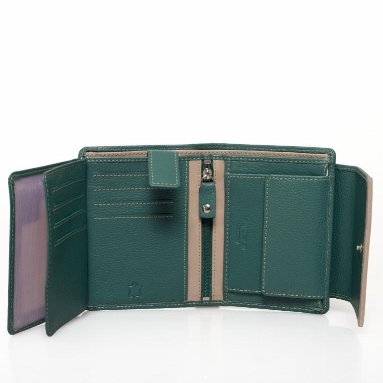 HJP Geldbörse Tinta Grün, Farbe: grün/oliv, Marke: Hausfelder, Abmessungen in cm: 13.0x10.5x2.0, Bild 5 von 6
