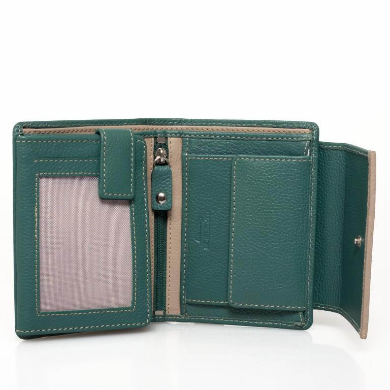 HJP Geldbörse Tinta Grün, Farbe: grün/oliv, Marke: Hausfelder, Abmessungen in cm: 13.0x10.5x2.0, Bild 3 von 6