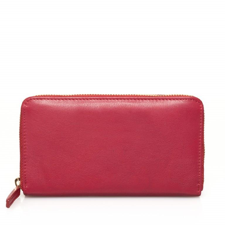 HJP Geldbörse Roma Rot, Farbe: rot/weinrot, Marke: Hausfelder, Abmessungen in cm: 18.0x10.5x2.0, Bild 2 von 4
