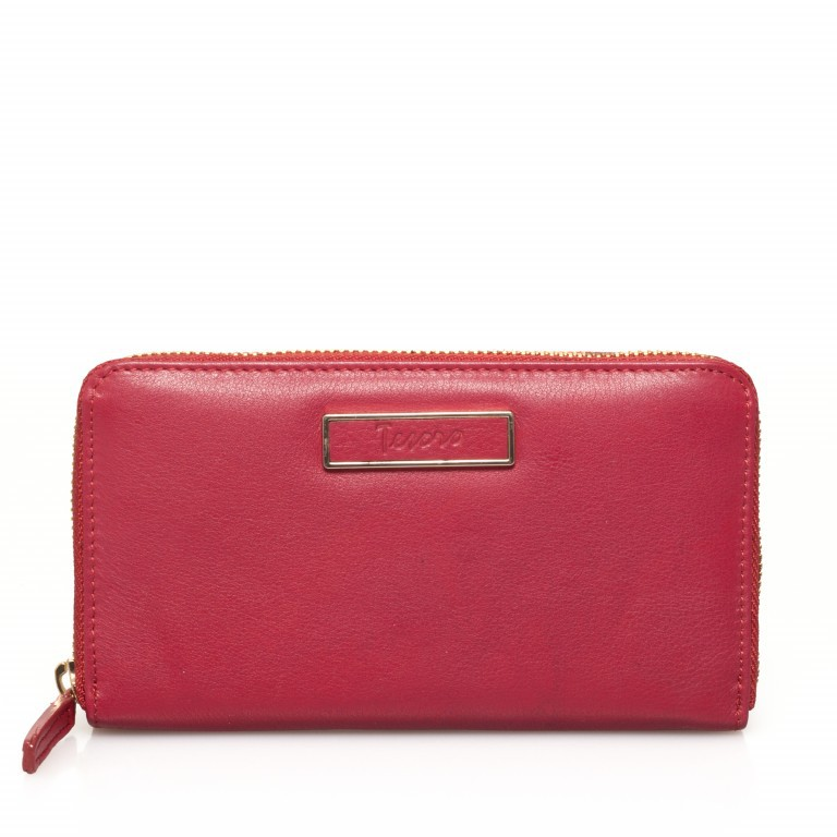 HJP Geldbörse Roma Rot, Farbe: rot/weinrot, Marke: Hausfelder, Abmessungen in cm: 18.0x10.5x2.0, Bild 1 von 4