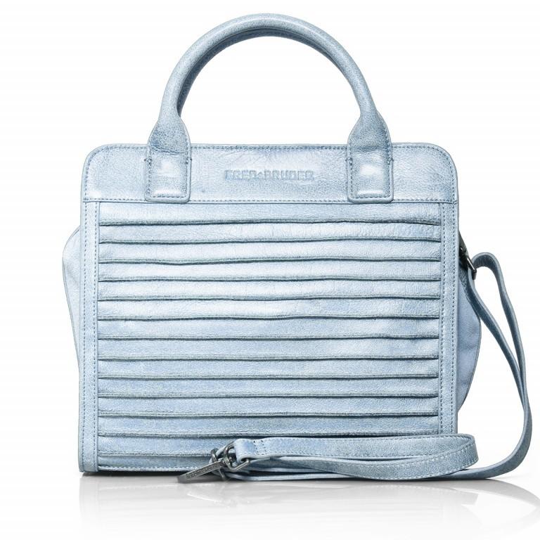 FREDsBRUDER Perfect Match 67-439-24 Shopper Leder Powder Blue, Farbe: blau/petrol, Marke: FredsBruder, Abmessungen in cm: 30.0x28.0x14.0, Bild 1 von 4