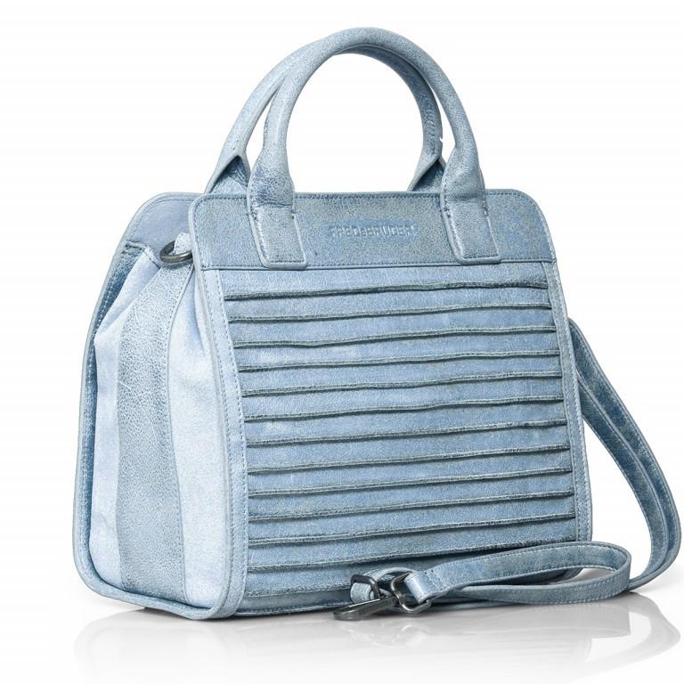 FREDsBRUDER Perfect Match 67-439-24 Shopper Leder Powder Blue, Farbe: blau/petrol, Marke: FredsBruder, Abmessungen in cm: 30.0x28.0x14.0, Bild 2 von 4