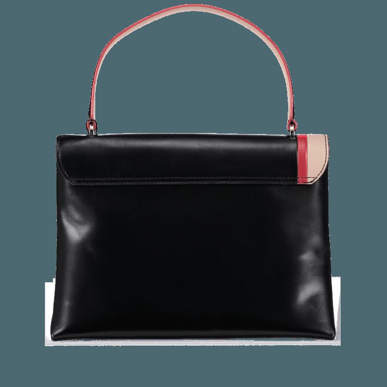 Marc Cain Handtasche HBTJ25L06-900 Black, Farbe: schwarz, Marke: Marc Cain, EAN: 4056255522503, Abmessungen in cm: 32.0x22.0x13.0, Bild 5 von 5