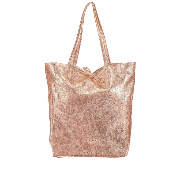 Hausfelder Shopper Athena MA100-547 Rame Metallic, Farbe: rosa/pink, metallic, Marke: Hausfelder, Abmessungen in cm: 28.0x38.0x14.0, Bild 1 von 5