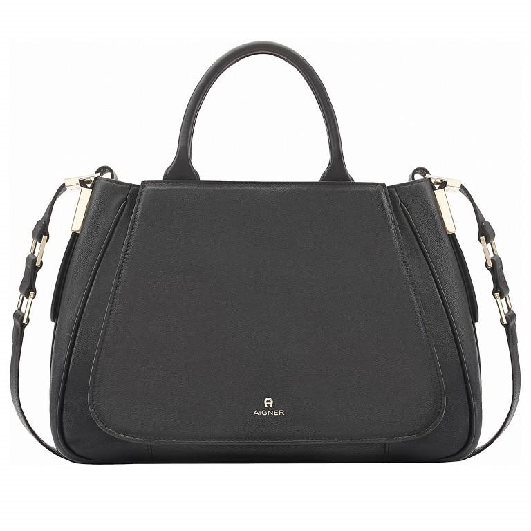 AIGNER Vittoria Bag M 133595-2 Black, Farbe: schwarz, Marke: Aigner, Abmessungen in cm: 35.0x26.0x12.0, Bild 1 von 3