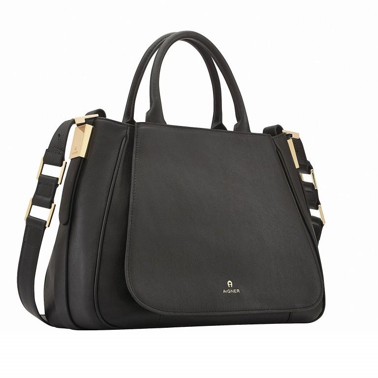 AIGNER Vittoria Bag M 133595-2 Black, Farbe: schwarz, Marke: Aigner, Abmessungen in cm: 35.0x26.0x12.0, Bild 2 von 3