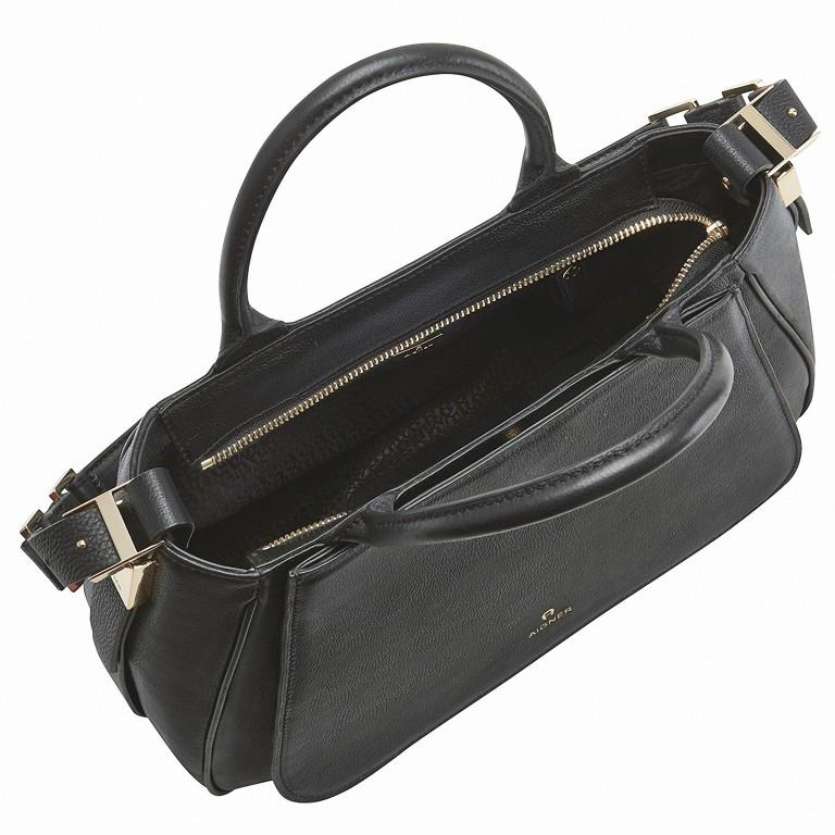 AIGNER Vittoria Bag M 133595-2 Black, Farbe: schwarz, Marke: Aigner, Abmessungen in cm: 35.0x26.0x12.0, Bild 3 von 3
