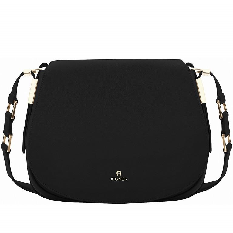 AIGNER Vittoria Bag M 132039-2 Black, Farbe: schwarz, Marke: Aigner, Abmessungen in cm: 28.0x23.0x10.5, Bild 1 von 3