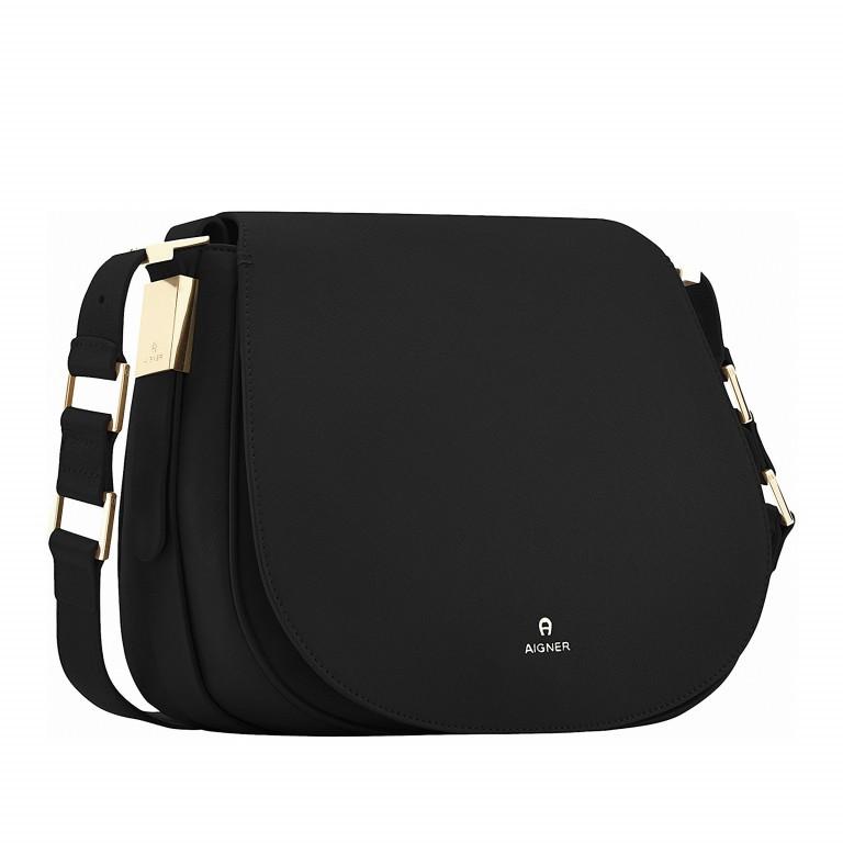 AIGNER Vittoria Bag M 132039-2 Black, Farbe: schwarz, Marke: Aigner, Abmessungen in cm: 28.0x23.0x10.5, Bild 2 von 3