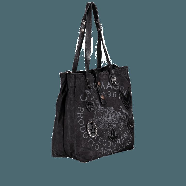 Campomaggi Vintage-Canvas33cm C5026-TVVLTC-2000 Nero, Farbe: schwarz, Marke: Campomaggi, Abmessungen in cm: 30.0x33.0x13.0, Bild 2 von 5
