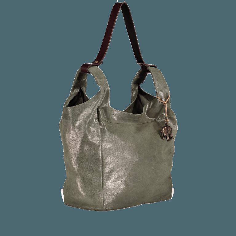 Anokhi Beutel Metallic Cheyenne 317-7280-322 Bamboo, Farbe: grün/oliv, Marke: Anokhi, Abmessungen in cm: 28.5x30.0x16.0, Bild 2 von 3