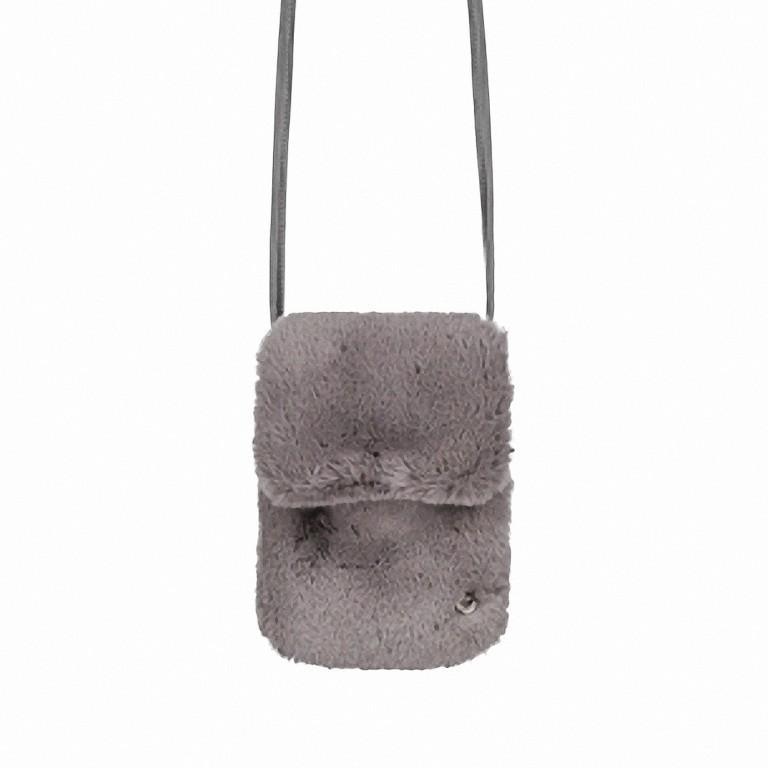 RINO & PELLE Mini Felltasche Duwa Faux Fur Rabbit, Farbe: anthrazit, Marke: Rino & Pelle, Abmessungen in cm: 19.0x14.0x2.0, Bild 1 von 2