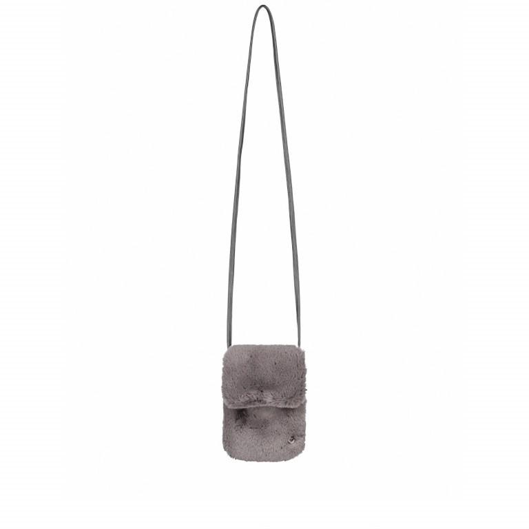 RINO & PELLE Mini Felltasche Duwa Faux Fur Rabbit, Farbe: anthrazit, Marke: Rino & Pelle, Abmessungen in cm: 19.0x14.0x2.0, Bild 2 von 2