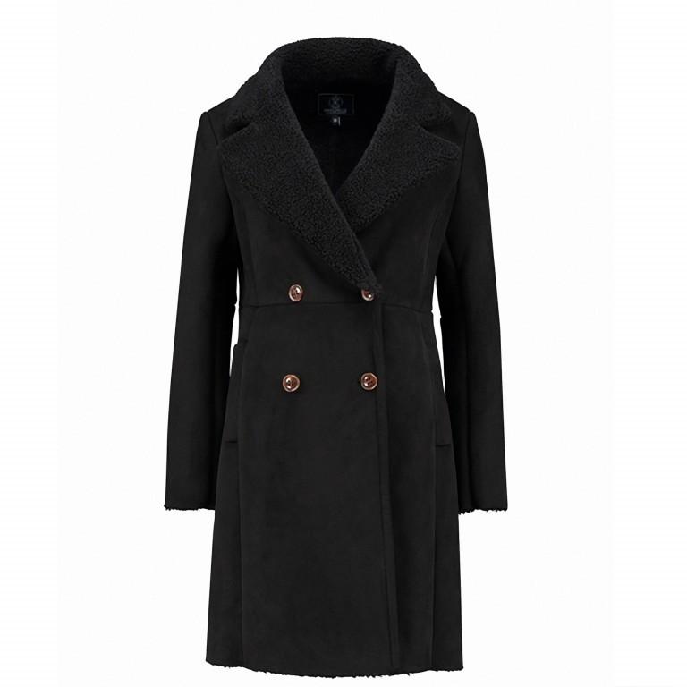 RINO & PELLE Mantel Kavita Faux Suede Black GR.44, Farbe: schwarz, Marke: Rino & Pelle, Bild 1 von 1