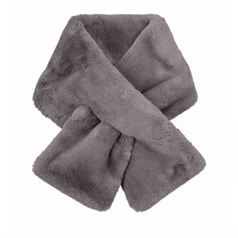 RINO & PELLE Schal Stip Faux Fur, Farbe: anthrazit, blau/petrol, grün/oliv, Marke: Rino & Pelle, Abmessungen in cm: 108.0x20.0, Bild 1 von 1