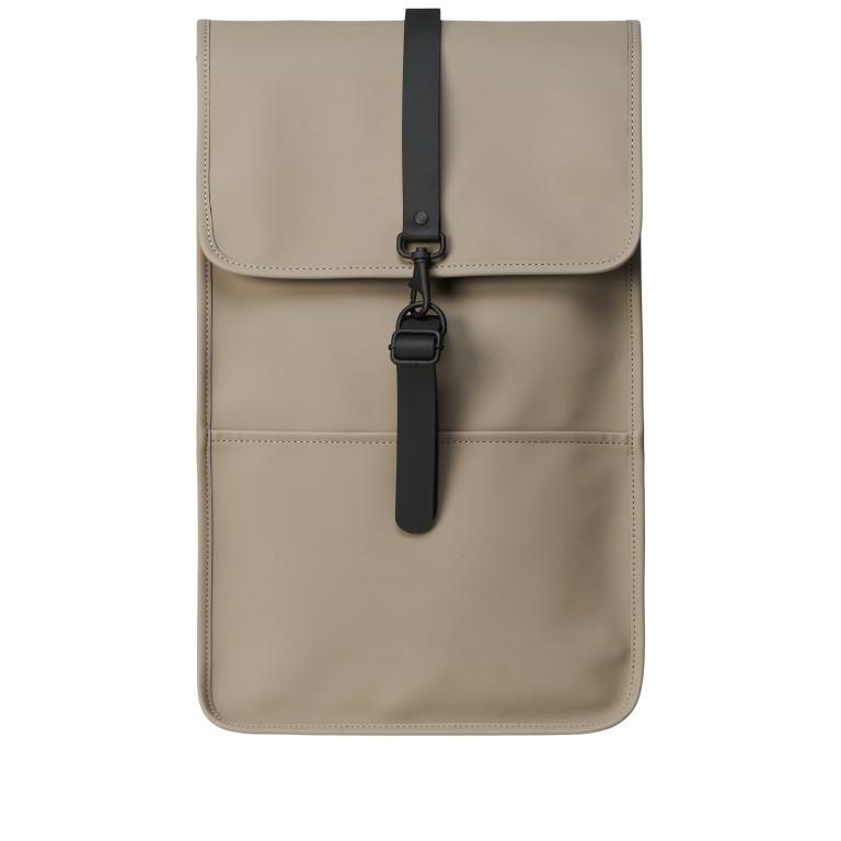 Rains Backpack, Farbe: schwarz, anthrazit, blau/petrol, taupe/khaki, grün/oliv, gelb, beige, weiß, Marke: Rains, Abmessungen in cm: 28.5x47.0x10.0, Bild 1 von 5