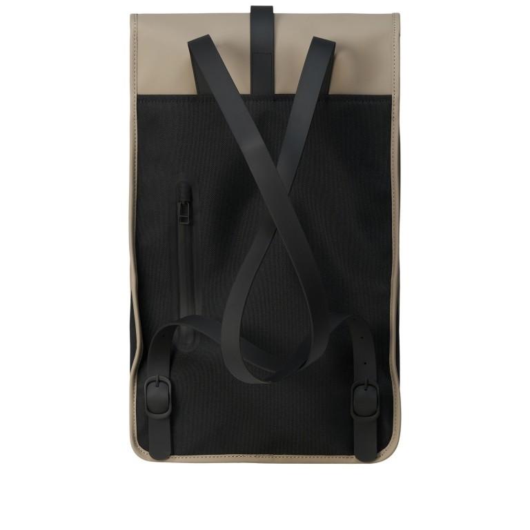 Rains Backpack, Farbe: schwarz, anthrazit, blau/petrol, taupe/khaki, grün/oliv, gelb, beige, weiß, Marke: Rains, Abmessungen in cm: 28.5x47.0x10.0, Bild 2 von 5