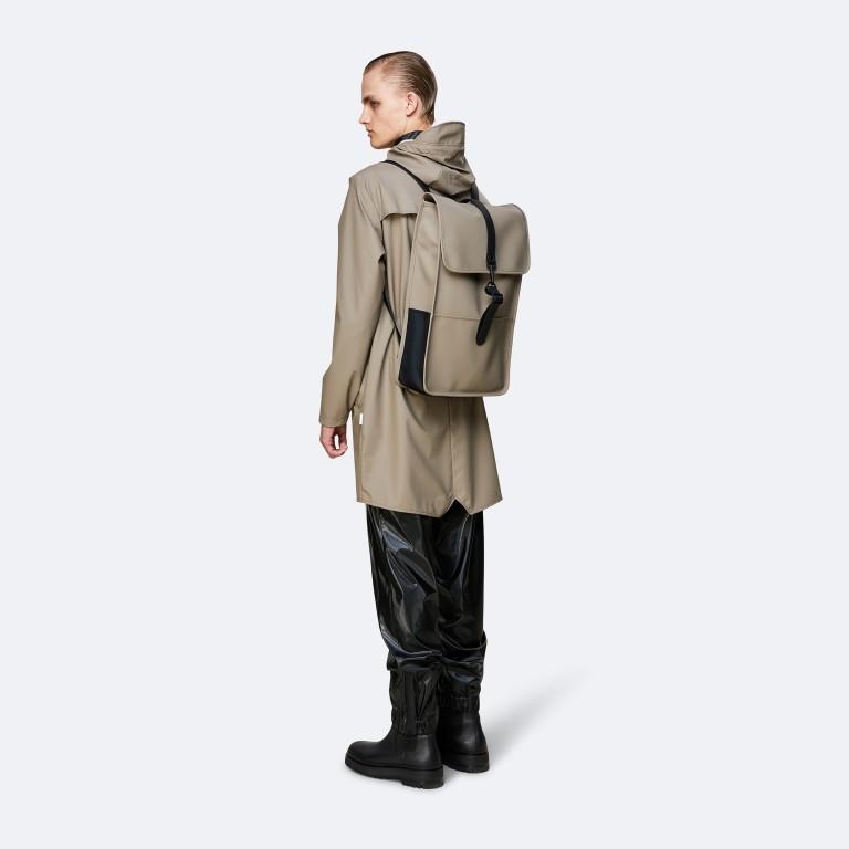Rains Backpack, Farbe: schwarz, anthrazit, blau/petrol, taupe/khaki, grün/oliv, gelb, beige, weiß, Marke: Rains, Abmessungen in cm: 28.5x47.0x10.0, Bild 4 von 5