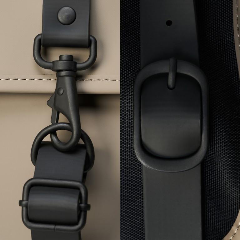 Rains Backpack, Farbe: schwarz, anthrazit, blau/petrol, taupe/khaki, grün/oliv, gelb, beige, weiß, Marke: Rains, Abmessungen in cm: 28.5x47.0x10.0, Bild 5 von 5