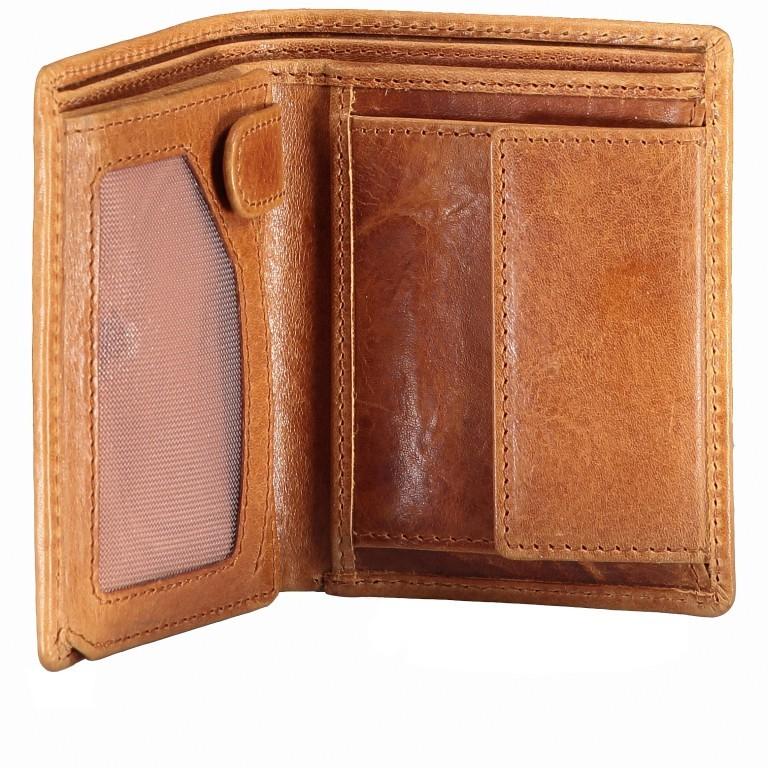 Hausfelder Geldbörse Amra JA06-V Folkland Cognac, Farbe: cognac, Marke: Hausfelder, EAN: 4251672750045, Abmessungen in cm: 9.0x11.5x1.5, Bild 6 von 6