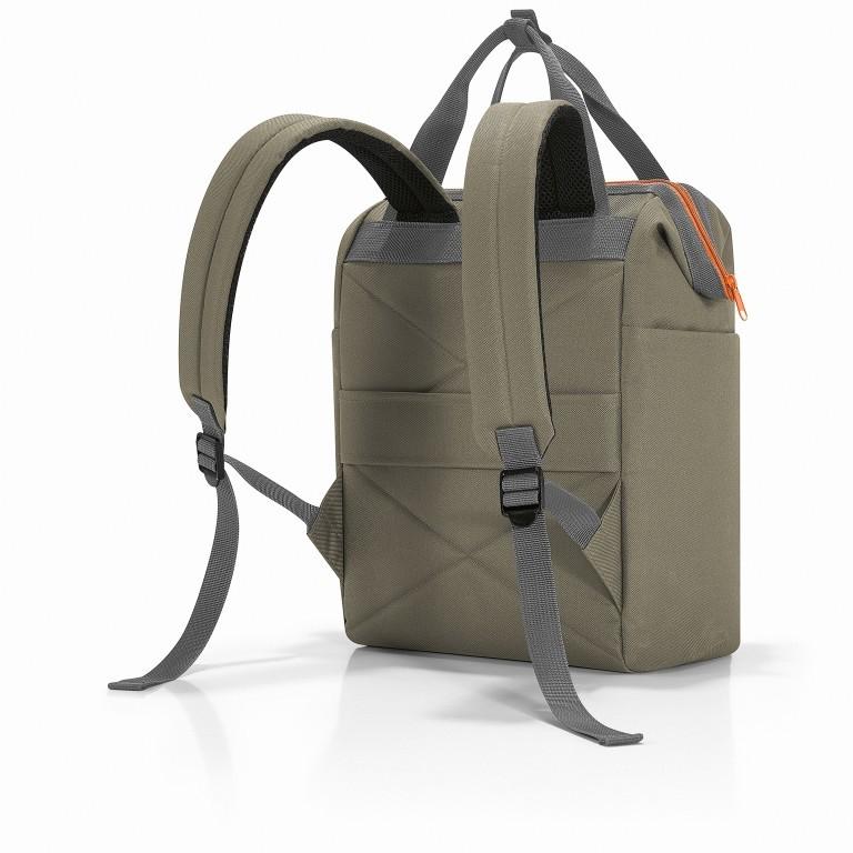 Reisenthel Allrounder R Backpack JR.5043 Olive Green, Farbe: grün/oliv, Marke: Reisenthel, EAN: 4012013719110, Abmessungen in cm: 31.0x39.0x17.0, Bild 2 von 5