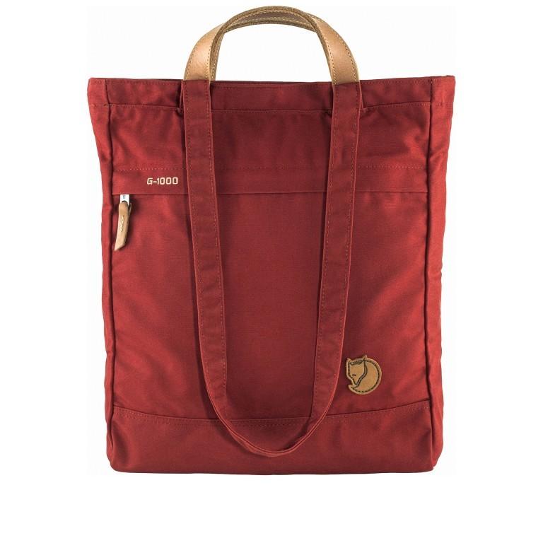 Fjällräven Totepack No.1 Shopper Deep Red, Farbe: rot/weinrot, Marke: Fjällräven, EAN: 7323450644598, Abmessungen in cm: 39.0x32.0x11.0, Bild 1 von 9