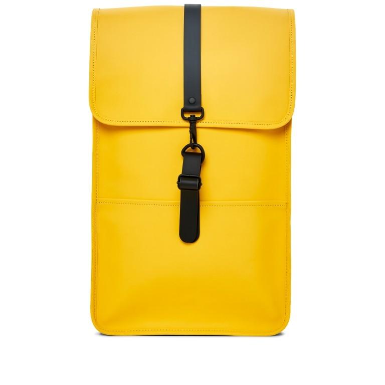 Rains Backpack Yellow, Farbe: gelb, Marke: Rains, EAN: 5711747427139, Abmessungen in cm: 28.5x47.0x10.0, Bild 1 von 9