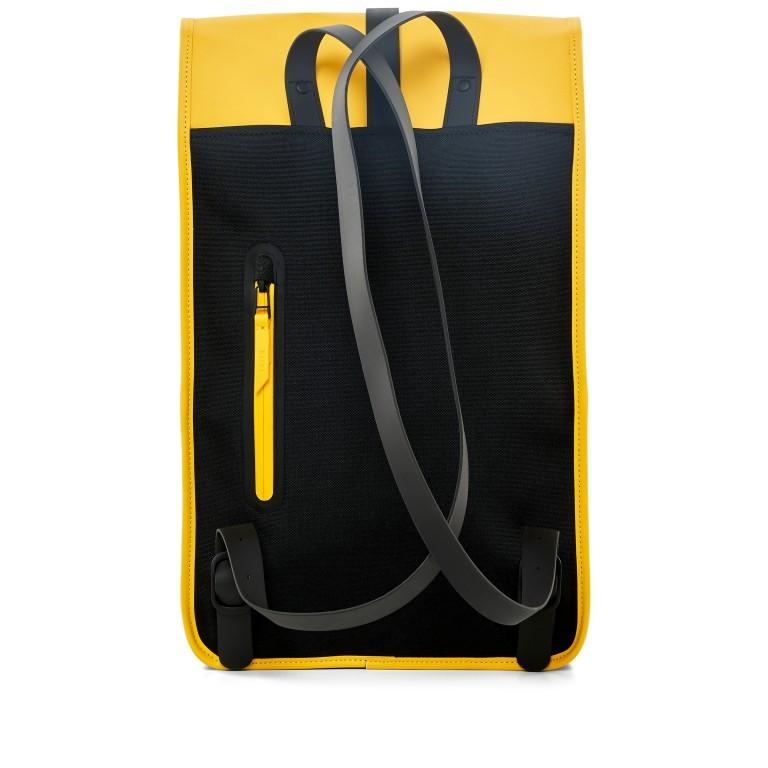 Rains Backpack Yellow, Farbe: gelb, Marke: Rains, EAN: 5711747427139, Abmessungen in cm: 28.5x47.0x10.0, Bild 2 von 9