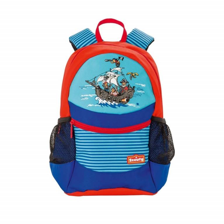 Scout Scouty Rucksack Pirat, Farbe: blau/petrol, Marke: Scout, EAN: 4007953349152, Abmessungen in cm: 23.0x30.0x15.0, Bild 1 von 1