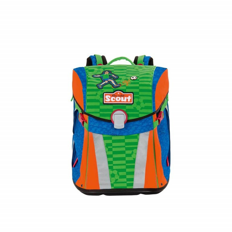 Scout Sunny Schulranzen-Set 4-tlg. Street Soccer, Farbe: grün/oliv, Marke: Scout, Abmessungen in cm: 30.0x39.0x20.0, Bild 2 von 8