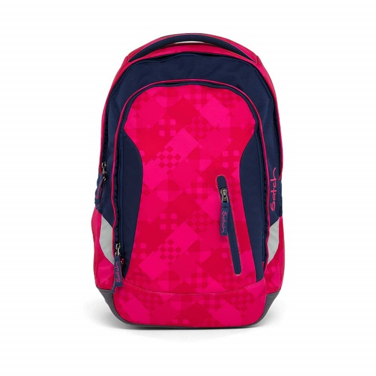 Satch Sleek Rucksack Cherry Checks, Marke: Satch, EAN: 4057081005307, Abmessungen in cm: 27.0x45.0x15.0, Bild 1 von 7