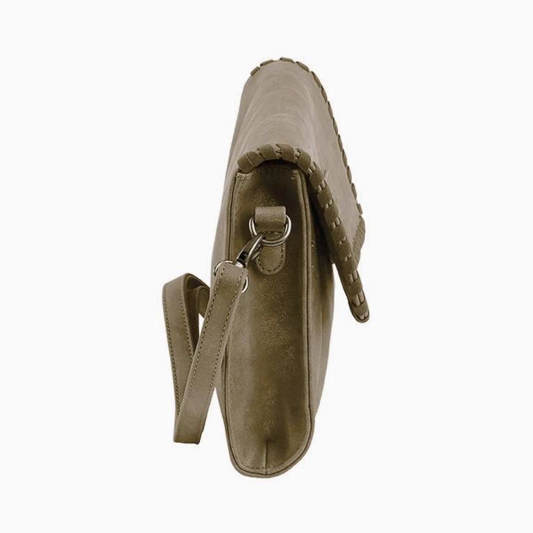 Fritzi aus Preußen Vintage Alessia Tasche Synthetik Batik, Farbe: grün/oliv, Marke: Fritzi aus Preußen, Abmessungen in cm: 27.0x19.0x5.0, Bild 2 von 3