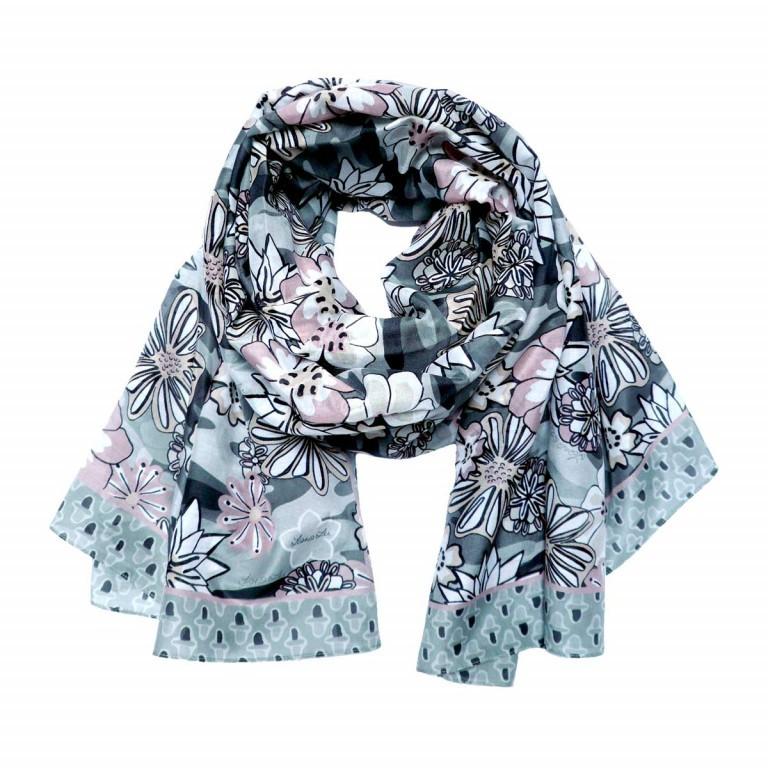 Lana Lei Aloha Schal Base Grey, Farbe: anthrazit, grau, rosa/pink, Marke: Lana Lei, Abmessungen in cm: 108.0x216.0, Bild 1 von 1