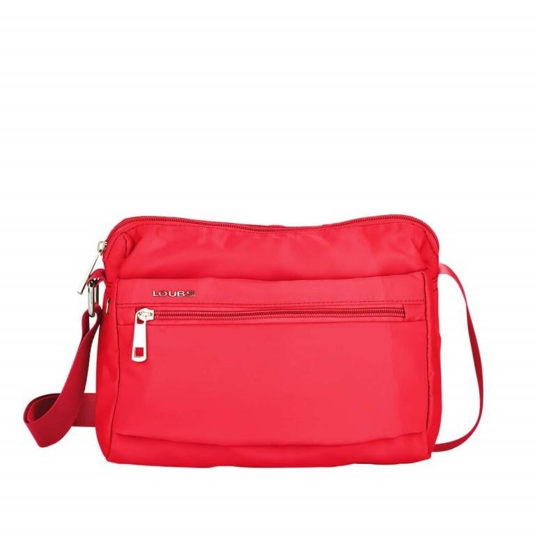 Loubs Schultertasche Nylon Rot, Farbe: rot/weinrot, Marke: Loubs, Abmessungen in cm: 25.0x18.0x9.0, Bild 1 von 3