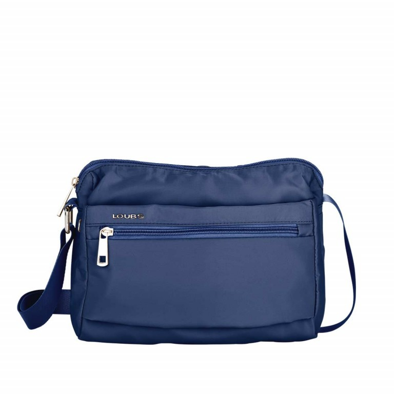 Loubs Schultertasche Nylon Blau, Farbe: blau/petrol, Marke: Loubs, Abmessungen in cm: 25.0x18.0x9.0, Bild 1 von 3